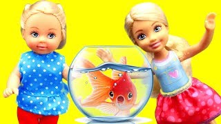 Barbie Girl Doll Pretend Play with Fish for kids, toddlers | Fun And Simple Learn and Play