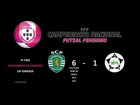 15/16 | Séniores Femininos | Camp. Nacional | F2 - 14ªJ | Sporting CP (6) x Novasemente (1)