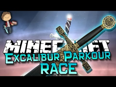 Minecraft: Excalibur Parkour Race Adventure w/Mitch & Jerome! - TheBajanCanadian  - lAhIWP6vtKE -