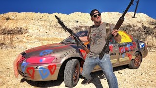How Long Will it Take WWII Machine Guns to Explode a Camry???
