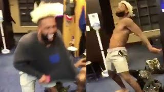 Odell Beckham Jr REACTS To Record Breaking Contract With EPIC Dance Moves!