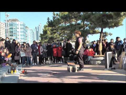 해운대 거리마술 쇼 2014,12,25