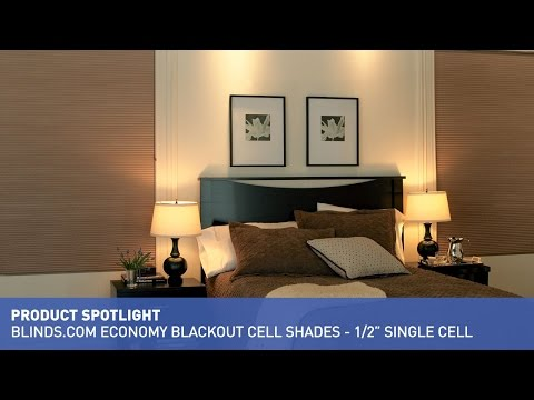 "Blinds.com Economy Blackout Cellular Shade - 1/2"" Single Cell"