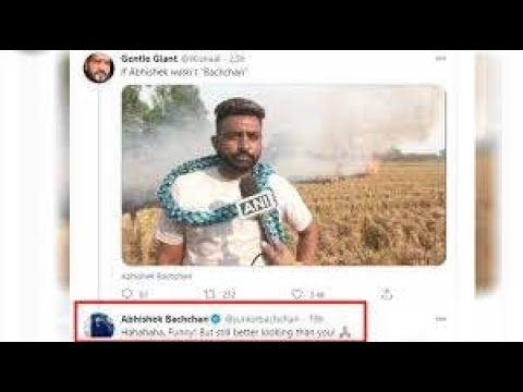 Abhishek Bachchan GIVES an epic reply to a troll