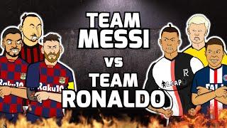 🔥Team Messi vs Team Ronaldo🔥 Football Challenges! Frontmen Season 1.10