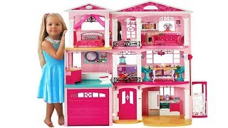 The biggest Barbie toy on Kids Diana Show - Barbie Doll House