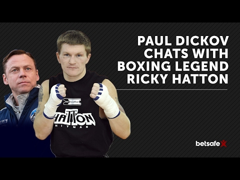 Football meets boxing - Paul Dickov and Ricky Hatton