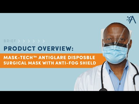 Mask-Tech Premium Anti-Glare Disposable Surgical Mask With Anti-Fog Shield - Brief Overview
