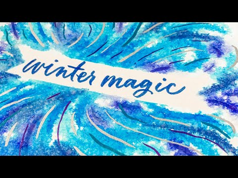 3 Winter Watercolor Texture Tricks