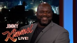 Jimmy Kimmel Asks Shaq if He Really Thinks the Earth is Flat