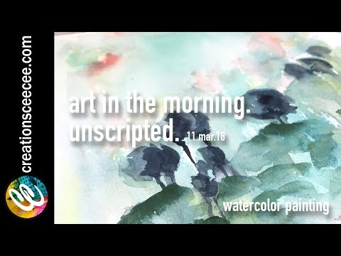 blue hill: real time watercolor painting