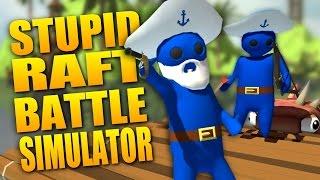 HUGE PIRATE BATTLE AT SEA - Stupid Raft Battle Simulator