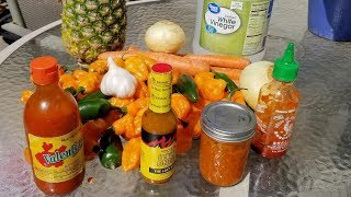 How to make hot sauce from fresh peppers at home.  DIY Hot Sauce tutorial.