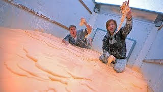1000lbs of OOBLECK in moving truck!