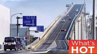 Japan's crazy 'rollercoaster bridge' Eshima Ohashi 埃希马大桥, 江島大橋