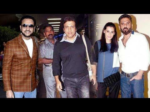 Govinda, Sunil Shetty and Gulshan Grover Spotted at Mumbai Airport!