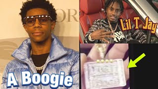 "A Boogie Wit Da Hoodie Responds To Lil Tjay Video Of High Bridge Chain ""N!gga Got Audacity To Buy..."