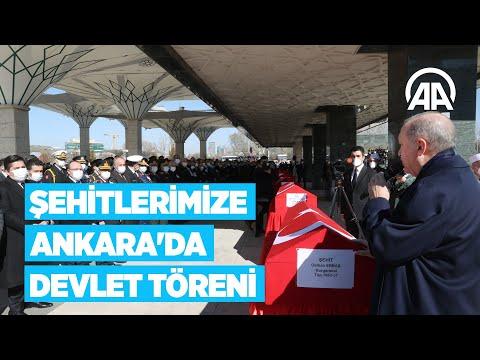 Şehitlerimize Ankara'da devlet töreni