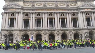 Yellow Vest protesters gather for 'Act V' in Paris