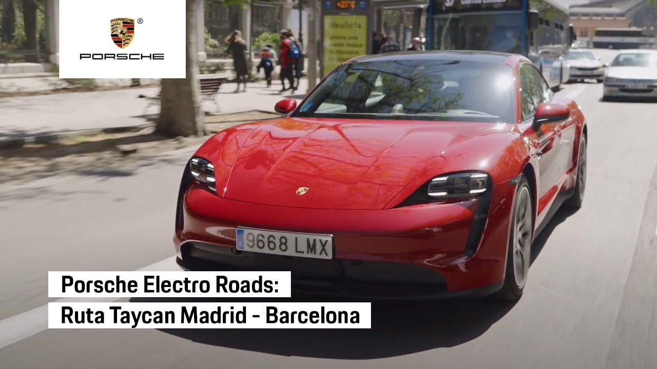 Ruta Madrid-Barcelona con el Porsche Taycan