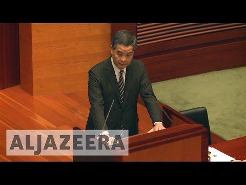 Hong Kong chief executive says no room for independence