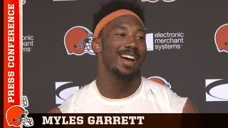 Myles Garrett on Tyrod Taylor's Leadership & Baker Mayfield's Ability | Cleveland Browns