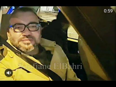 أول فيديو للملك محمد السادس ليلة الإشاعة صوت وصورة في سيارته