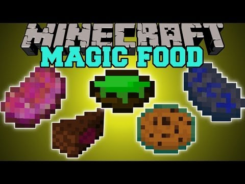 Minecraft: MAGIC FOOD (TONS OF FOOD WITH MAGICAL POTION EFFECTS!) Mod Showcase - Smashpipe Food