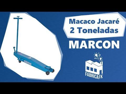 Macaco Jacaré Hidráulico Longo 2 Toneladas Mjh-2t Marcon - Vídeo explicativo