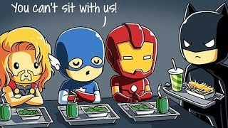 When Marvel Met DC. Hillariously Funny Comics & Art.