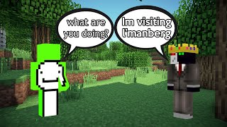 ranboo VISITS whats LEFT from L'MANBERG (dream smp)
