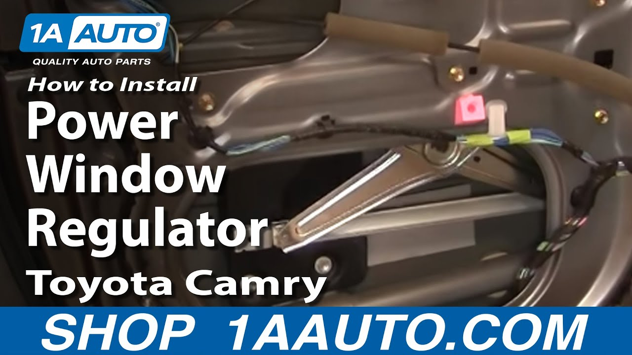 install replace power window regulator toyota camry