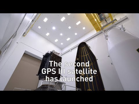 GPS III SV02 launched Aug. 22, 2019 and is responding to commands.