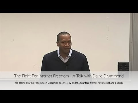 The Fight for Internet Freedom - A Talk with David Drummond