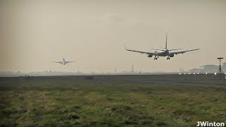 CLOSE Ryanair 737-800 Late Landing Clearance Stansted Airport