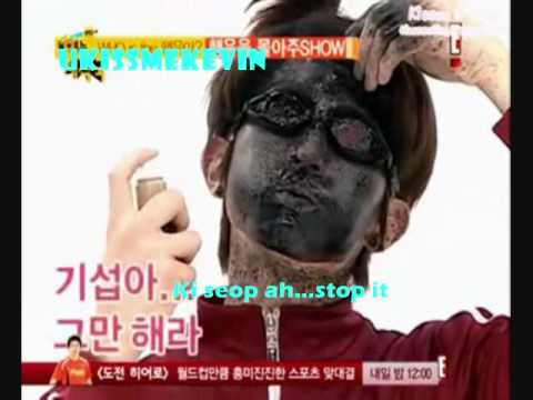 U-Kiss Super funny face spray game (ENG)