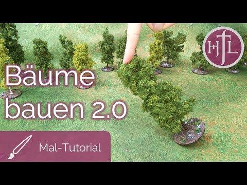 Geländebau-Tutorial - Tabletop Bäume bauen, die nicht umfallen... (Tabletop / Modellbau)