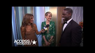 Sarah Paulson's & Sterling K Brown's Backstage Love Fest At Emmys 2016 | Access Hollywood