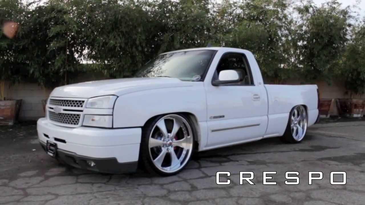 "2007 Chevrolet Silverado 1500 Extended Cab >> Silverado dropped on 24"" billets - YouTube"