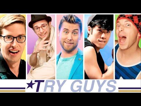The Try Guys 90s Boyband Music Video Challenge