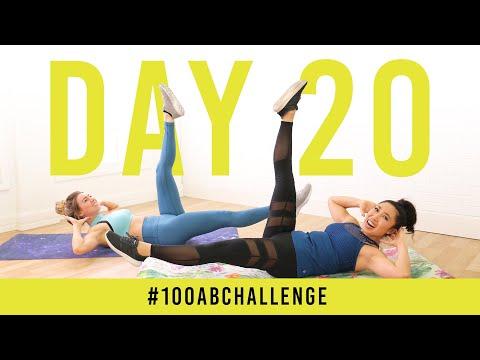 Day 20: 100 Single Leg Drops!   #100AbChallenge w/ Anna Victoria