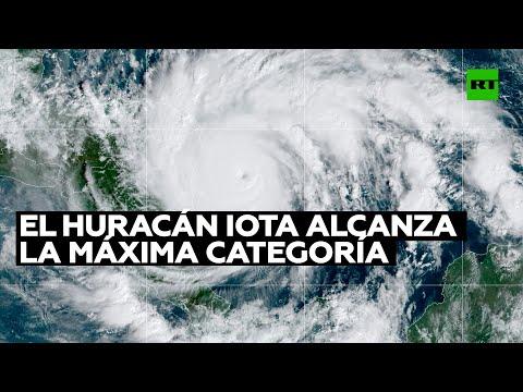 El huracán Iota alcanza la máxima categoría 5 y amenaza a Centroamérica con vientos «catastróficos»