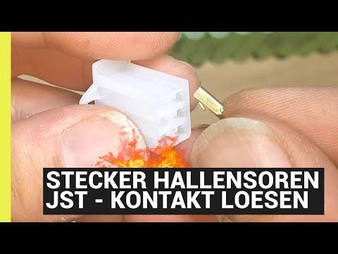 Kontaktstifte lösen vom Hallsensoren-Stecker - JST 2,8mm 6 Pol Gehäusestecker Flachstecker