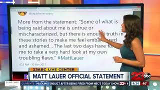 BREAKING: Matt Lauer breaks silence and issues apology
