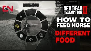 Red Dead Redemption 2 How to feed horse different food