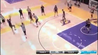 LeBron James SCARY GAME TYING THREE LAKERS SCRIMMAGE, He Isn't Human!