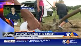 Hurricane Florence: Wednesday morning in Virginia Beach