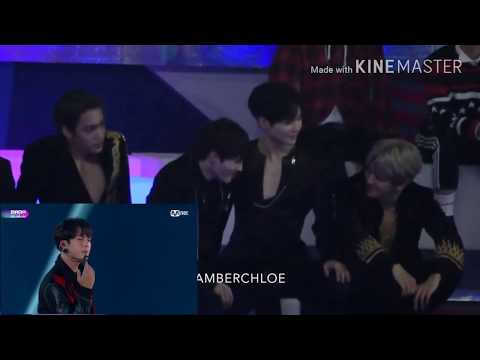 EXO Kai, WANNAONE Sungwoon and Shinee Taemin reaction to BTS DNA(MAMA 2017)