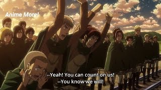 A Heart Warming Send Off For Scouts Attack On Titan 3