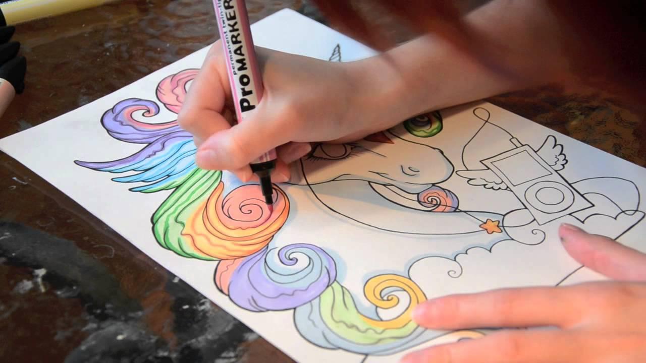 Speed Painting Shiny Rainbow Unicorn Youtube